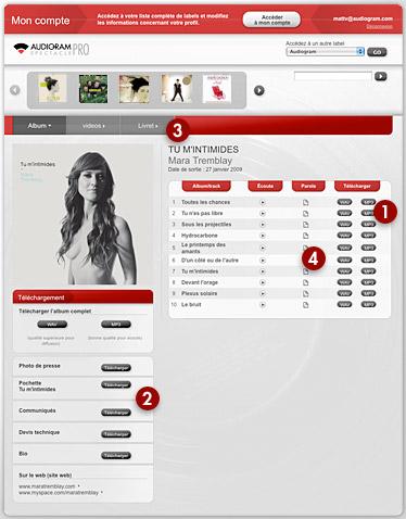 Screenshot de musiquepro.net